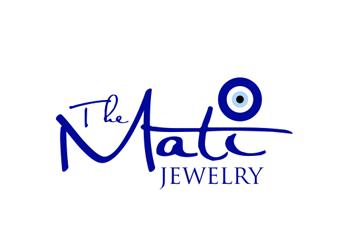 evil eye iconic jewelry logo vector