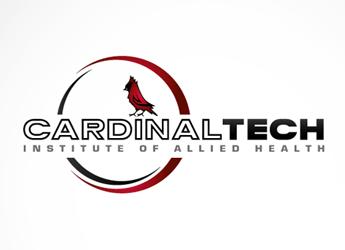 red cardinal bird in a circular swoosh tech school logo